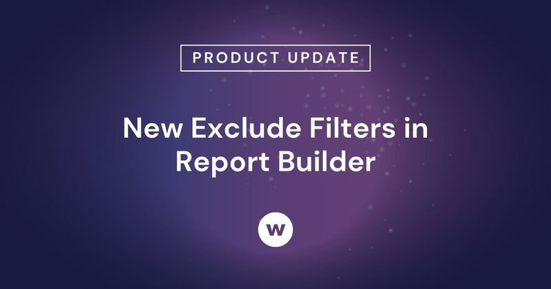 Use Exclude Filters to simplify how users select filters when creating reports in Report Builder.