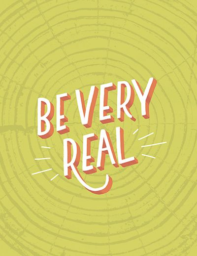 Be very real decorative typeface