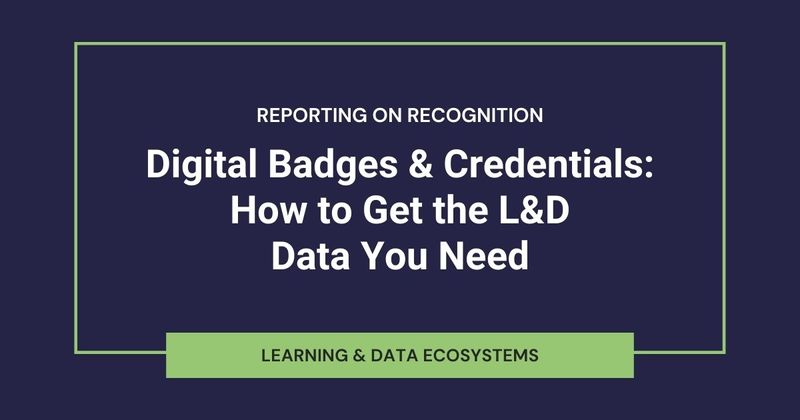 Credentialing Data Requirements for Learning Analytics