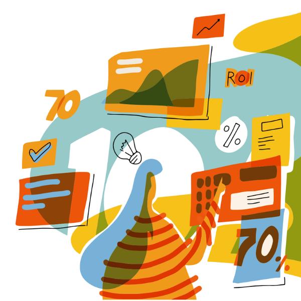 Use learning analytics to measure training program ROI.