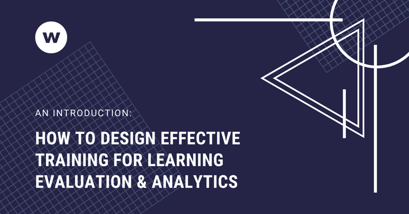 How to design effective training for learning analytics