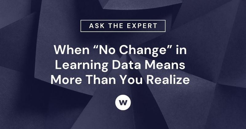 What does no change in learning data mean?
