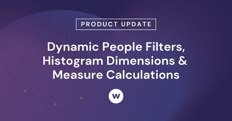 Use Watershed's Dynamic People Filters, Histogram Dimensions, Measure Calculations, and more.