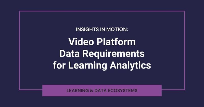 What are data requirements for video platforms?