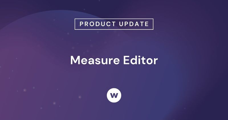 Watershed's Measure Editor lets you create trackable data points that any user can analyze in Watershed's reports.