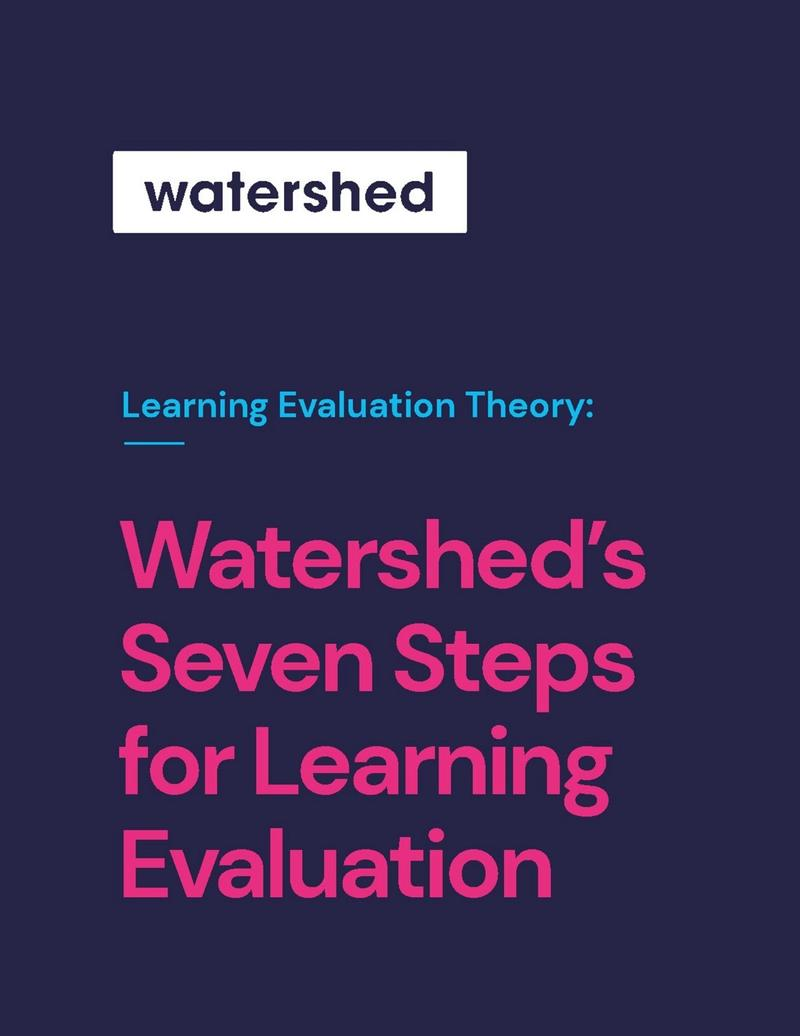 Watershed's Seven Steps for Learning Evaluation