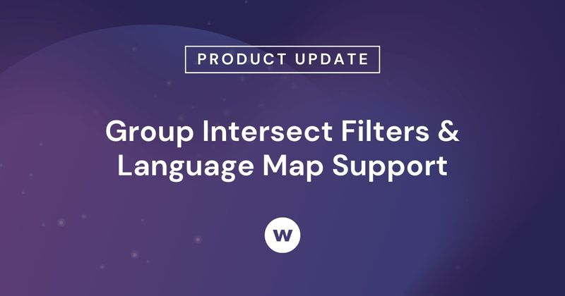 Watershed Group Intersect Filter and Language Map Support
