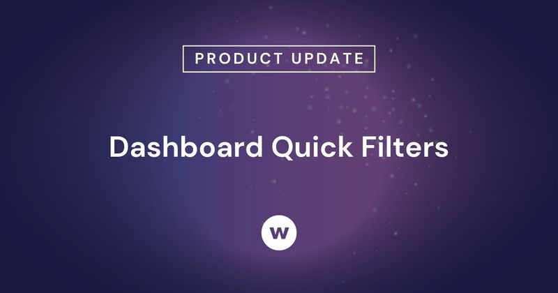 Check out the latest Watershed product update—Dashboard Quick Filters!