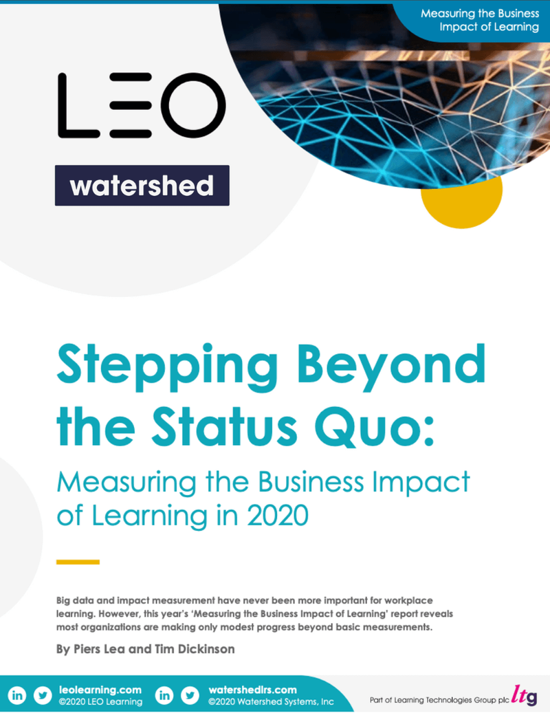 Measuring the Business Impact of Learning in 2020 Report