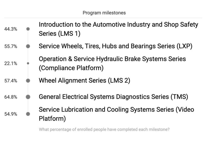 Auto Mechanic Training Milestones