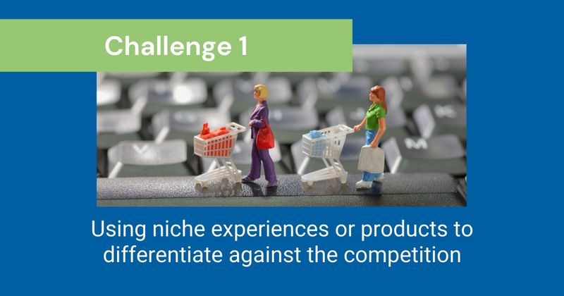 CHALLENGE 1: Using niche experiences or products to differentiate against the competition