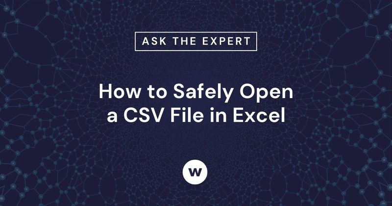 Open a CSV file in Excel without changing or reformatting your important learning data.