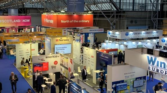 Photo of the Norway pavilion at the Offshore 2019 exhibition