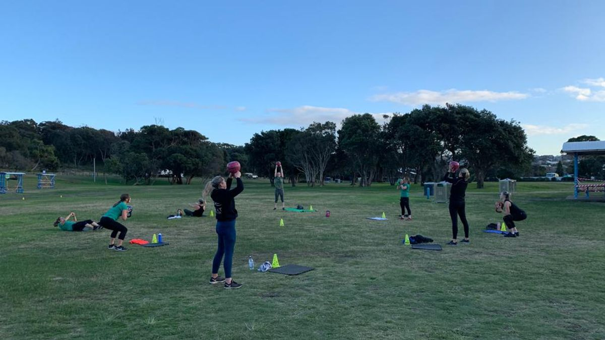 Training outdoors again in Maroubra
