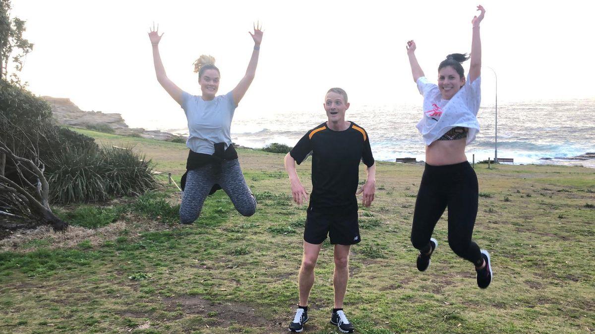 Maroubra Running Crew having fun