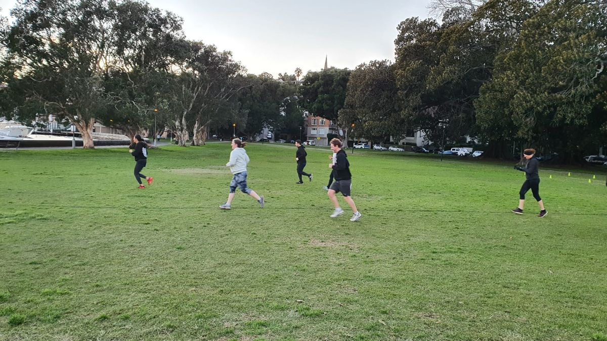 Training at Rushcutters Bay