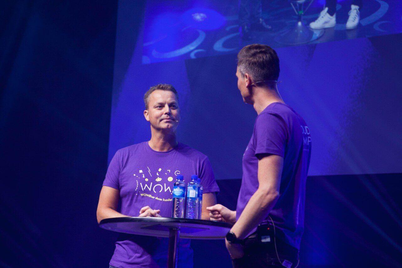 Ståle Risa og Stian Rustad på Scenen under CAMP.CLOUD 2019