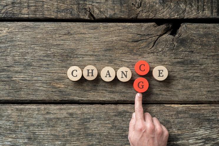 Ordet change som står for endring i fremtidens banktjenester