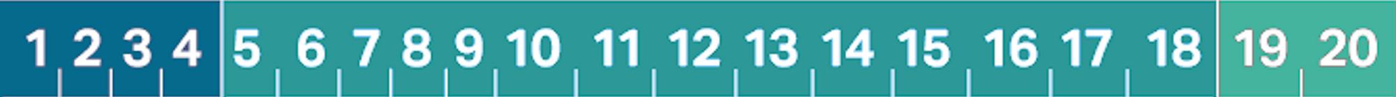 Colored, 20-digit alphanumeric universal company ID