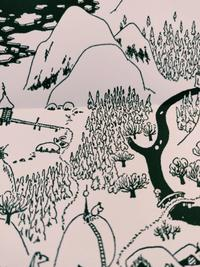 Map detail from Moominland Winter