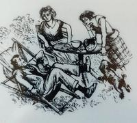 Illustration taken from Affairs at Thrush Green by Miss Read