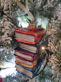 Photo of Christmas Decoration of Books