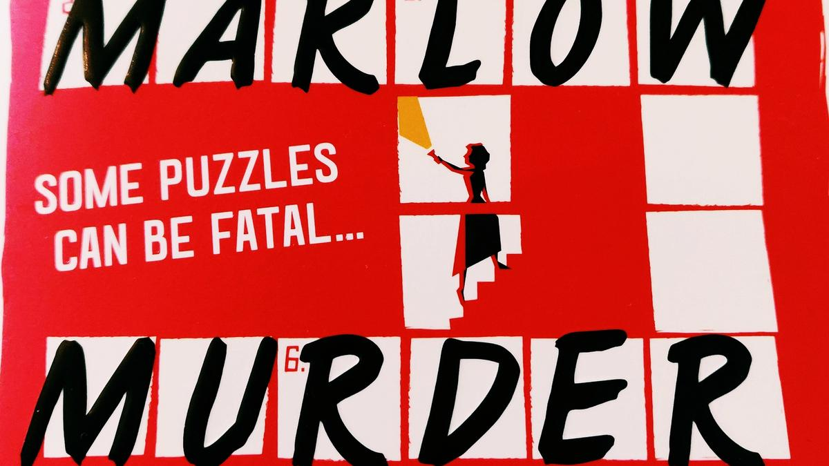 Detail from The Marlow Murder Club Cover showing part of a crossword