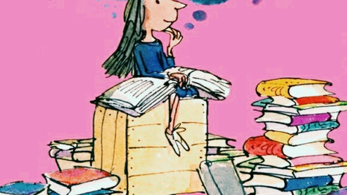 Cover Detail of Matilda by Roald Dahl illustrated by Quentin Blake