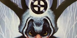 Cover detail of The Dark is Rising by Susan Cooper showing a painting of Herne the Hunter