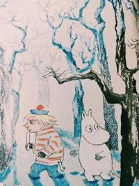 Back cover detail of Moominland Midwinter