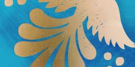Cover Detail of American Dirt by Jeanine Cummins showing a gold foil bird on a blue background