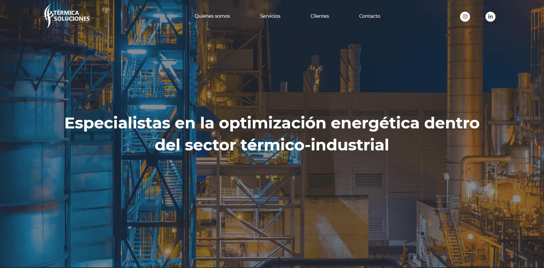 Screenshot of Termica Soluciones website