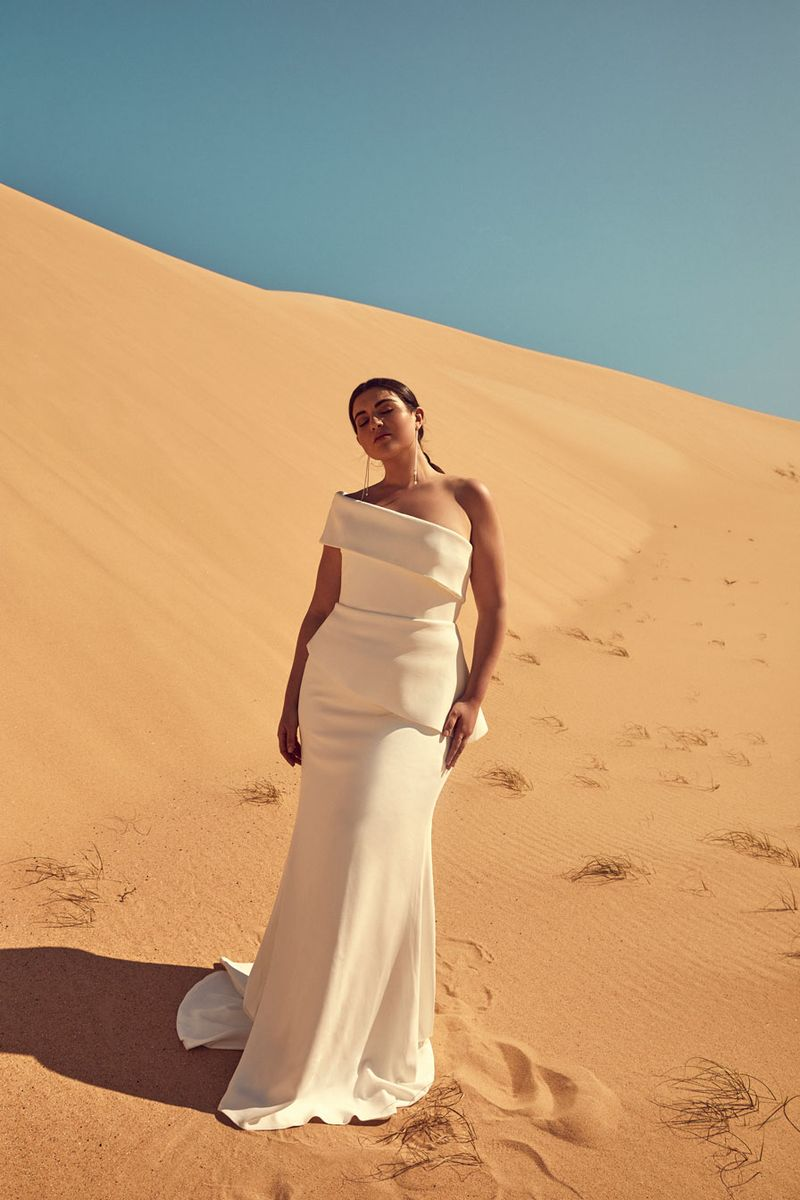 Chosen By One Day: Desert Rose Collection editorial bridal curve morris gown