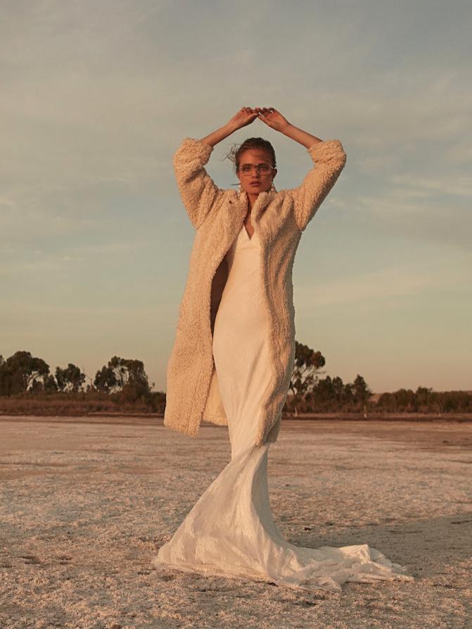 Editorial: Clair De Lune eyre wedding dress gown