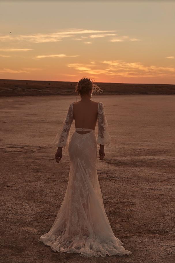 Editorial: Clair De Lune wedding dress gown parks