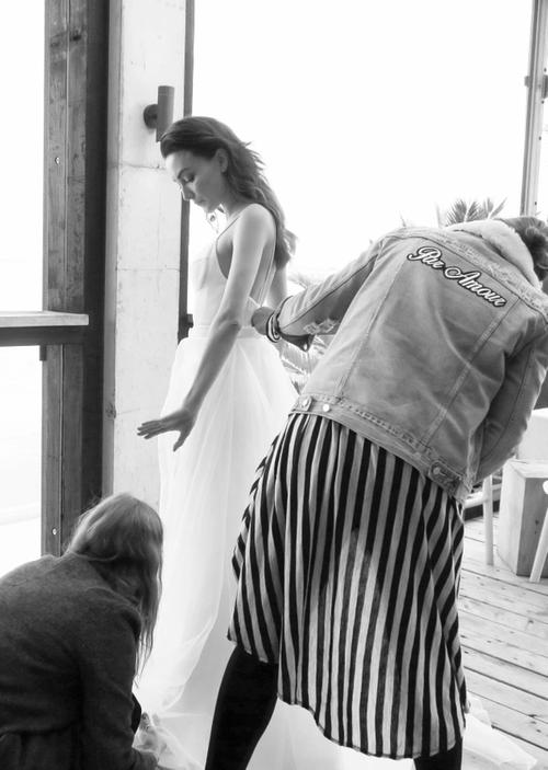 Behind the scenes: Chosen Empire Collection chosen by one day bridal wedding gown