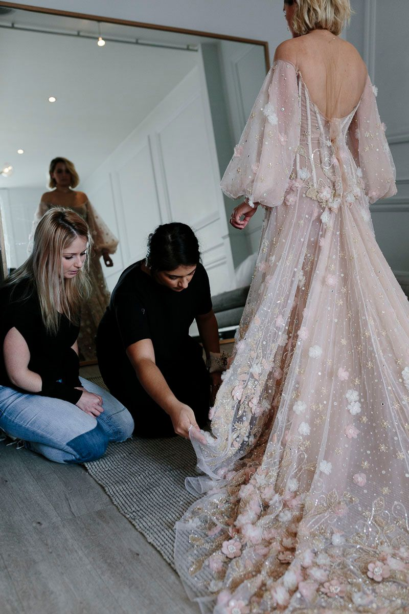 The making of a bespoke wedding dress one day bridal