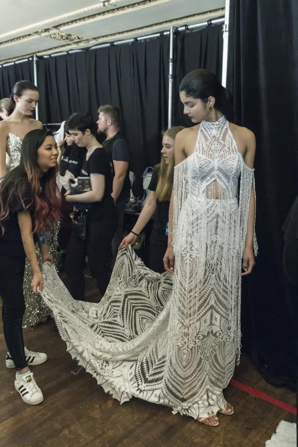 Melbourne Fashion Week: Opening Gala behind the scenes one day bridal editorial