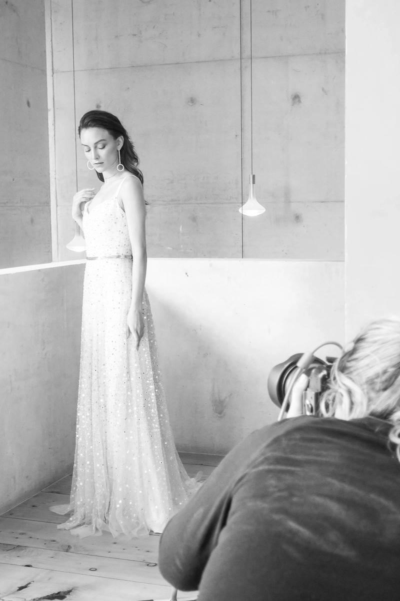 Behind the scenes: Chosen Empire Collection chosen by one day bridal wedding gown houston gown