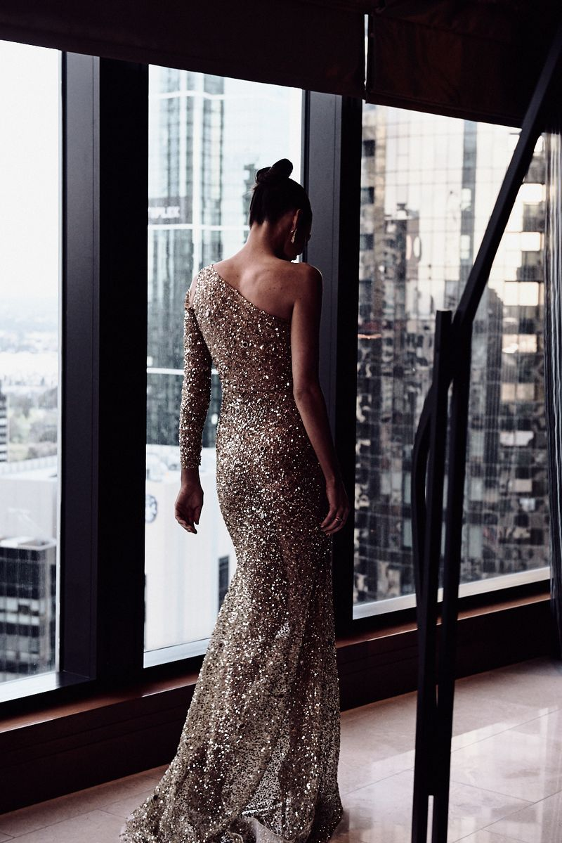 One Day 2018 Brownlow Medal bespoke red carpet gown afl sarah roughead