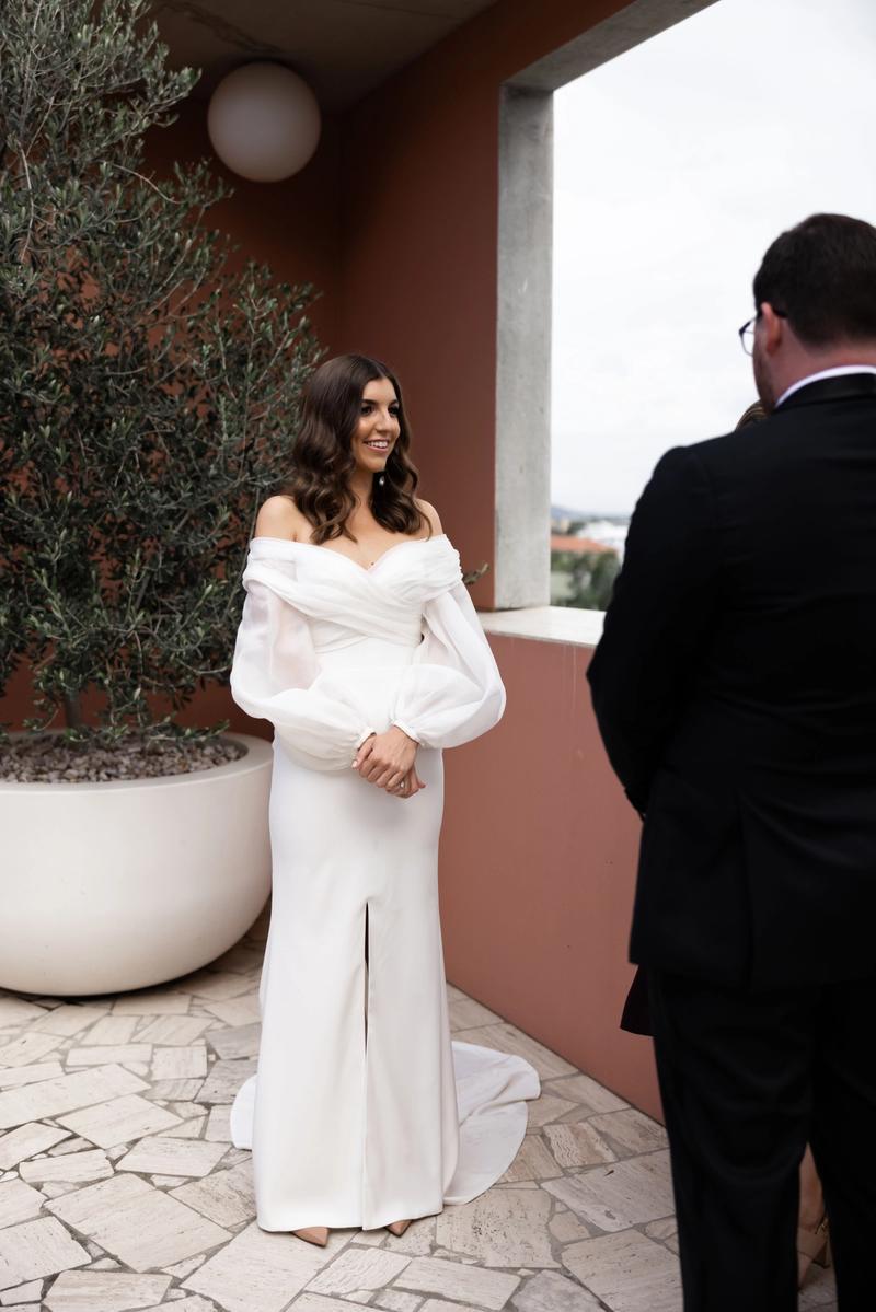 the calile hotel elopement wedding dress gown chosen by kyha hazel