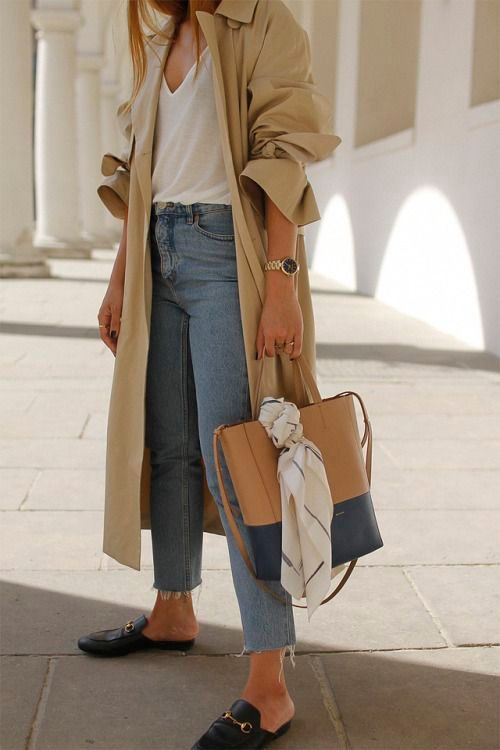 Dressing for winter loafer tan coat