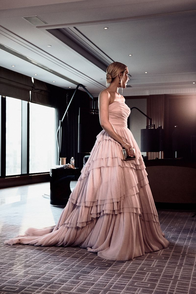 One Day 2018 Brownlow Medal bespoke red carpet gown afl belle gray