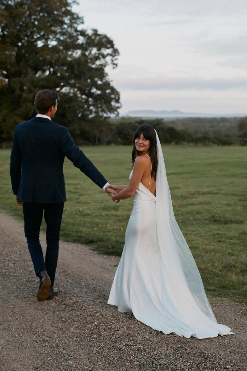 Lennox gown chosen by kyha wedding dress byron bay