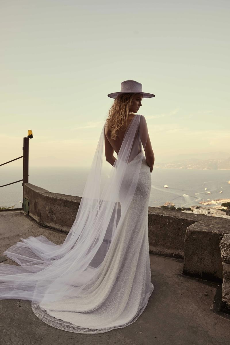 chosen by one day bridal pearl beaded Natalie gown ana capri editorial