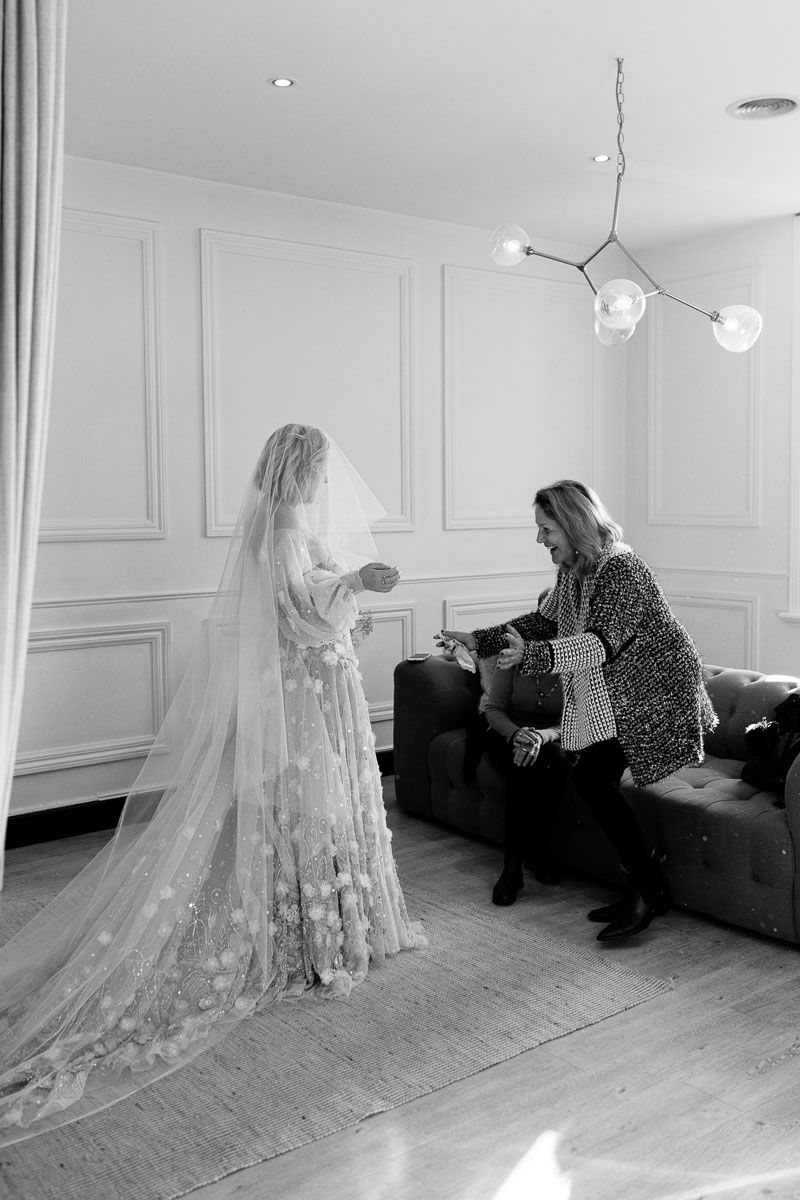 The making of a bespoke wedding dress