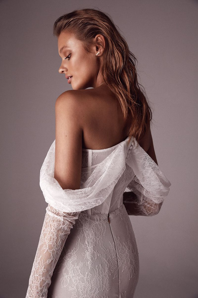 One Day x Sphere Collective: A Collaborative Collection the bridal Bennet gown
