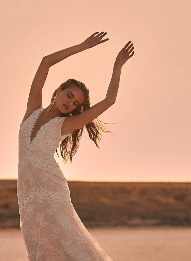 Editorial: Clair De Lune hillier gown wedding dress
