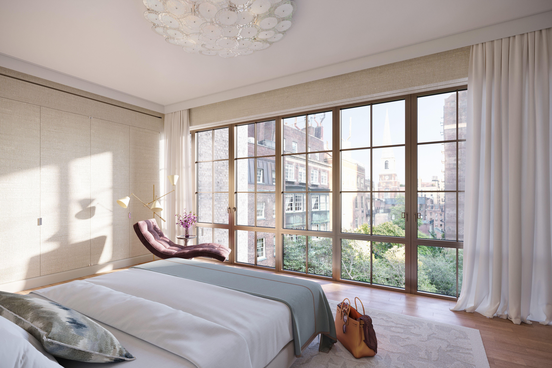 East-facing primary bedroom with Garden view