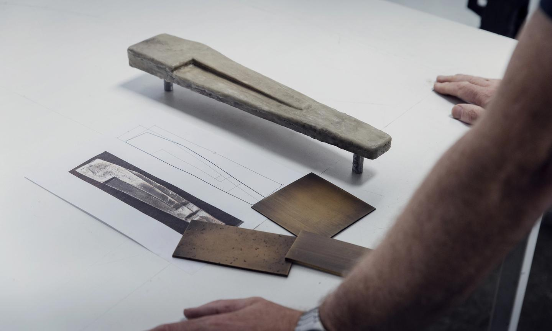 Entry door handle fabrication, Workspace11